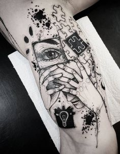 Awesome Black and Gray Tattoo