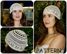 Sun Hat Pattern - Retro Hat Crochet Pattern - Lace Crochet Pattern - Crochet Vintage Hat Pattern For Summer - DIY Women's Hat Pattern