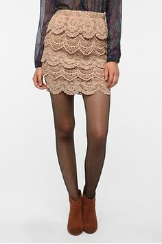 Cute lace skirt!