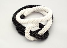 Black and white zen bracelet or ying yang necklace by EvAtelier1, $40.00