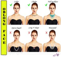 Necklaces for Oblong face