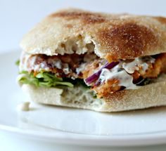 Sweet potato burgers with chipotle.