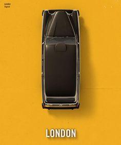"""London Digital """"Subirse a un taxi es conocer a gente auténtica, y no programada, gente que no sabe a bien cómo salir al día pero que se arriesga a subirse y ver a dónde lo llevará el cliente o el chofer."""" txt Jave"""