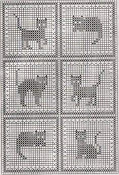 """жаккард, схема """"котики"""""""