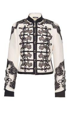 DOLCE & GABBANA Lace Embellished Military Jacket. #dolcegabbana #cloth #jacket