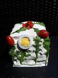 Sandwich cake aux crudités thon Sandwich Cake, Sandwiches, Crudite, Sushi, Panna Cotta, Pudding, Breakfast, Ethnic Recipes, Desserts