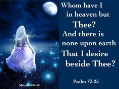 I desire You, my Lord, above all things.