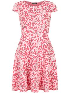 Pink paisley skater dress - View All Dresses  - Dresses