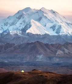 Denali National Park , Alaska  Photo by @scott_kranz #denali #national #park #alaska #snow #mountain #camp #camping #tent #alone #beautiful #sky #sunset #amazing #green #nature #view #relaxing #peace #dusk #fresh #cool #travel #horizon #earth #discover #clouds #traveler #instatravel
