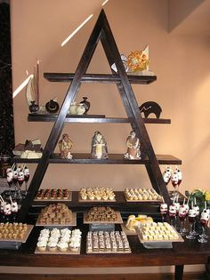 What a great way to stage a mini dessert buffet