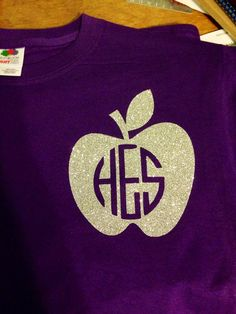 Personalized monogram teacher shirt with by MissSophiesBoutique, $16.00