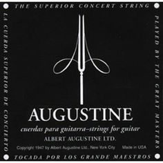Augustine AUGBLK-4D Coated 80/20 Bronze Classical Guitar Strings, Light by Augustine. $2.58. Augustine AUGBLK-4D Coated 80/20 Bronze Classical Guitar Strings, Light