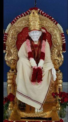 Shirdi Sai Baba Wallpapers, Sathya Sai Baba, Love You A Lot, Sai Baba Photos, Baba Image, Om Sai Ram, God Pictures, God Loves Me, Praise The Lords