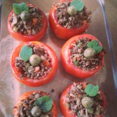 Tomates Rechados com Proteína de Soja - Receita Presunto Vegetariano