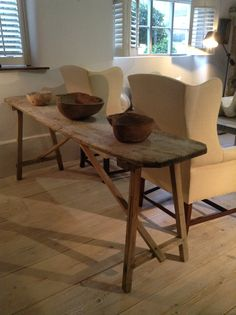 French Wash Table with fab patin, just arrived at Anton & K