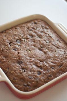 Healthy Dark Chocolate Zucchini Brownies