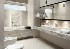 Timbre pozwala na stworzenie łazienki w biało – szarym kolorze. - Sklep