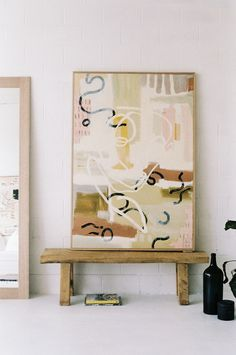 Her Curve - Print — Ashleigh Holmes Art Painting Inspiration, Art Inspo, Diy Wall Art, Love Art, Modern Art, Contemporary Art Prints, Art Projects, Art Drawings, Abstract Art