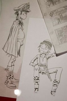 2D is generally confused. Murdoc is well...Murdoc. Jamie Hewlett