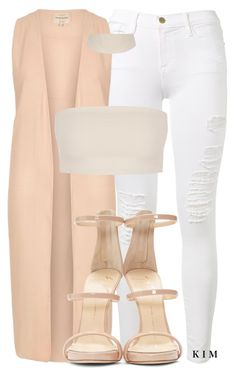 """Untitled #3161"" by kimberlythestylist ❤ liked on Polyvore featuring Frame Denim, River Island and Giuseppe Zanotti"
