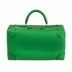Hermes - Green Tote Bag - Spring 2014 www.MadamPaloozaEmporium.com www.facebook.com/MadamPalooza