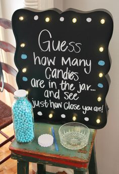 How many candies in the jar baby shower game
