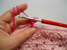 My Hobby Is Crochet: Twisted Single Crochet- Written Instructions, tutorial with step by step pictures  link to video file