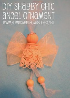 DIY Shabby Chic Angel Ornaments, christmas, tree ornament, tutorial