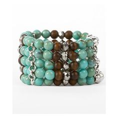 BKE Bead Bracelet found on Polyvore