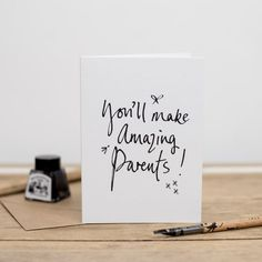 You'll make amazing parents  Pregnancy by PearlofaGirlUK on Etsy                                                                                                                                                     More