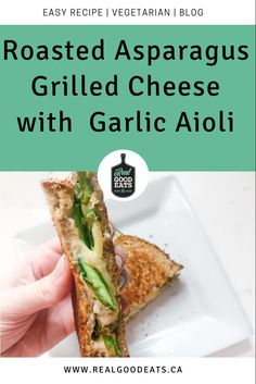 This grilled cheese recipe provides you with a serving of veggies, has protein from the cheese, and has a garlic aioli which acts as a delicious flavour booster. Best part? It's ready in ~20 minutes. #healthyrecipe #asparagus #easyrecipe #mealideas Vegetarian Recipes Dinner, Dinner Recipes, Healthy Recipes, Healthy Weeknight Dinners, Easy Meals, Garlic Aioli, Grilled Cheese Recipes, Nutrition Tips, Meal Ideas