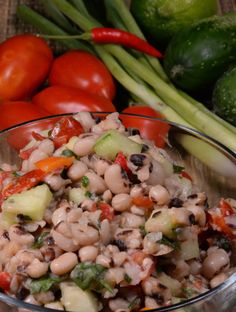 A delicious West African Salad made with black-eyed peas. Get the recipe at http://www.internationalcuisine.com it's free!