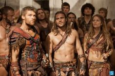 Photo - Spartacus Gannicus and Saxa listen in the marketplace - Denver TV | Examiner.com