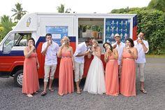 Rarotonga ice cream truck, special treat for the guests  Rarotonga Weddings