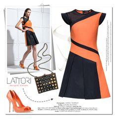 """Lattori"" by aurora-australis on Polyvore featuring Lattori, Casadei, Fendi, dress, dresses and lattori"