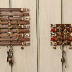 Wooden key hanger Dhokra Art design Material: Teak Wood (indian key hangers / / high finish)