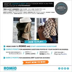 Win Fabulous Prizes By Answering My Style Questions on Romio.com
