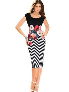 Cheap vestidos dress, Buy Quality woman elegant directly from China floral print Suppliers: 2017 New Spring Women Elegant Vintage Flower Floral Print Frill Ruched Charming Casual Party Bodycon Sheath Vestidos Dress Dress Illustration, Fashion Illustration Dresses, Cheap Dresses, Girls Dresses, Sheath Dress, Bodycon Dress, Zig Zag Dress, Dress Vestidos, Casual Work Outfits