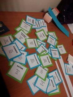 Occupations taboo for 5th 6th and 7th graders. Teach occupations (english) with a game.