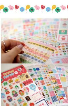 ONOR-Tech 12 Sheets Lovely Yummy Friends Decorative Adhesive Sticker Tape / Kids Craft Scrapbooking Sticker Set for Diary, Album | shopswell