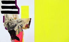 "Saatchi Art Artist Pamela Staker; Collage, ""Fragmented Study (yellow)"" #art"
