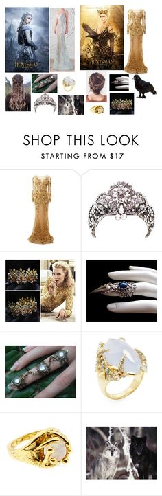 """Huntsman Winter War - Ice Queen ( Freya ) , Evil Queen ( Ravenna )"" by sarah4ever123 ❤ liked on Polyvore featuring Zuhair Murad, Alexis Bittar and Salty Fox Jewelry"