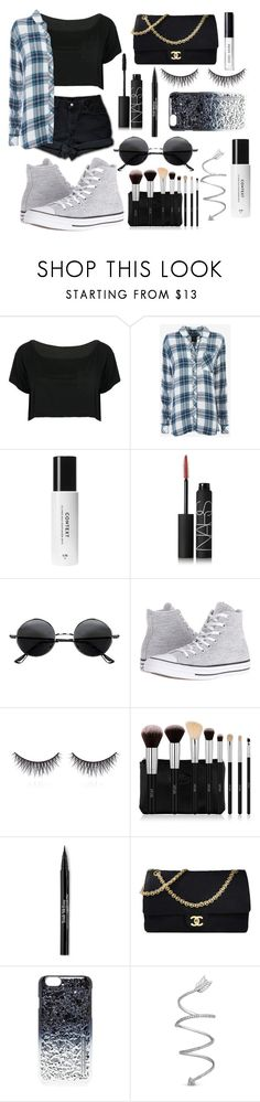 """Youth"" by jxstme ❤ liked on Polyvore featuring Levi's, WithChic, Rails, NARS Cosmetics, Retrò, Converse, shu uemura, Trish McEvoy, Chanel and Marc by Marc Jacobs"