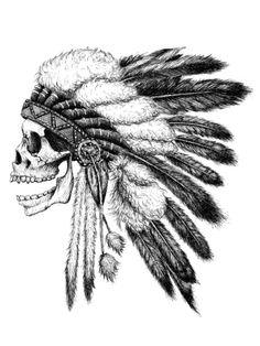 Native American Art Print by Motohiro NEZU on Society6