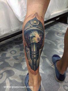 Biomechanical tattoos   Yomico Moreno