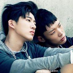 Image about kpop in iKon by ? on We Heart It Kim Hanbin Ikon, Yg Ent, Double B, U Kiss, Funny Boy, Hip Hop And R&b, Always Smile, Kpop Guys, Btob