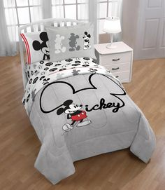 Bring the magic of Disney to life with this Mickey Mouse Jersey Reversible Comforter Set. Decorative reversible bedding features 2 designs of the iconic Mickey Mouse. This set makes the perfect addition to any bedroom and also is a great gift!