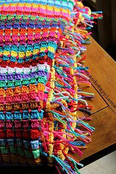 Crochet block stitch aslo known as chocolate box stitch