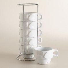 Elephant Stacking Mugs, Set of 6 | World Market