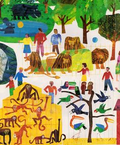1, 2, 3 to the Zoo: A Counting Book - written & illustrated by Eric Carle (1968), via my vintage book collection in blog form